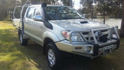 2007 Toyota Hilux GGN25R 07 Upgrade SR5 (4x4) Metallic Silver 5 Speed Automatic Dual Cab Pick-up Mardi Wyong Area Preview