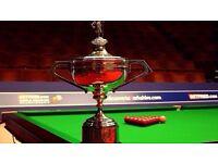 World Snooker Final Tickets Monday 1st May - Bucket List Item!!! LOOK!!!!