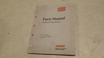 Prentice Hydro-ax Attachments Parts Manual Ci165