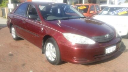 2002 Toyota Camry ACV36R Altise Red 4 Speed Automatic Sedan Victoria Park Victoria Park Area Preview