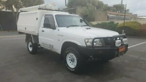 2012 Nissan Patrol MY11 Upgrade DX (4x4) White 5 Speed Manual Leaf Cab Chassis Melrose Park Mitcham Area Preview