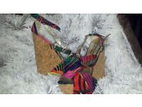 Womens SIZE 4 colourful heels