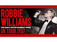 2 x Standing Robbie Williams tickets for his gig at the Etihad Stadium on Friday 2nd June
