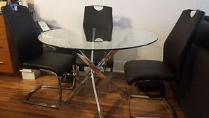 Kate Glass Dining Table Leons