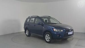 2010 Mitsubishi Outlander ZH MY11 LS (FWD) Blue 6 Speed CVT Auto Sequential Wagon Perth Airport Belmont Area Preview