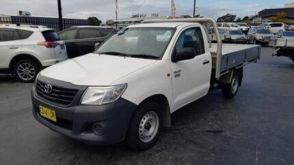 2014 Toyota Hilux TGN16R MY14 Workmate 4x2 White 5 Speed Manual Cab Chassis Taylors Beach Port Stephens Area Preview