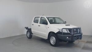 2015 Toyota Hilux KUN26R MY14 SR Double Cab Glacier White 5 Speed Automatic Cab Chassis Perth Airport Belmont Area Preview