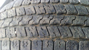 2 All season truck tires Bridgestone 265/70R17 $80both 70%left