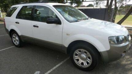 2008 Ford Territory SY MY07 Upgrade TX (RWD) White 4 Speed Auto Seq Sportshift Wagon