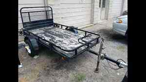 Sold   Utility trailer 4 x 7.5 with ramp tailgate Cambridge Kitchener Area image 1