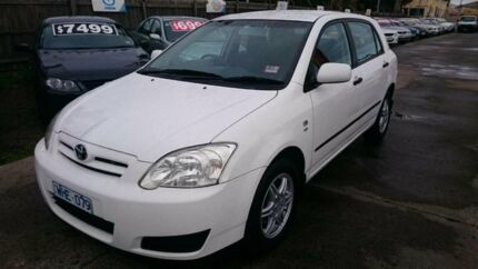 2004 Toyota Corolla ZZE122R Ascent Seca White 5 Speed Manual Hatchback Maidstone Maribyrnong Area Preview