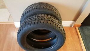 Two 195/60R15 Saxon Studded Winter Tires