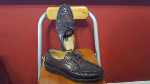 COLE HANN MENS LEATHER BROWN SHOES 9.5 MADE IN ITALY