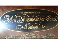 John Brinsmead & sons piano, early 20th century, needs some tlc, some woodworm evident.
