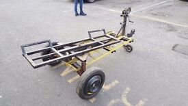 Car towing dolly , trailer