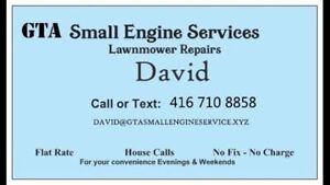 mobile small engine repair lawnmower tune up 4167108858