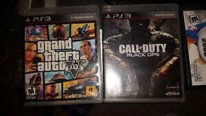 Ps3 160GB controller and games GTA 5 COD FIRM