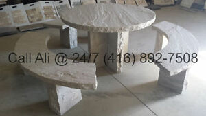 Natural Stone Furniture Natural Stone Table Natural Stone Bench