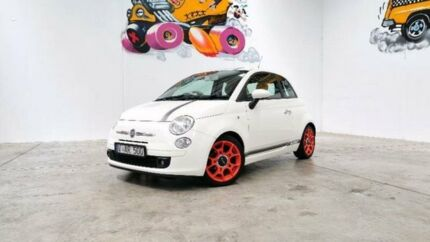 2008 Fiat 500 Series 1 White Manual Hatchback