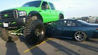 2005 Ford F-350 monster truck will clear 54's