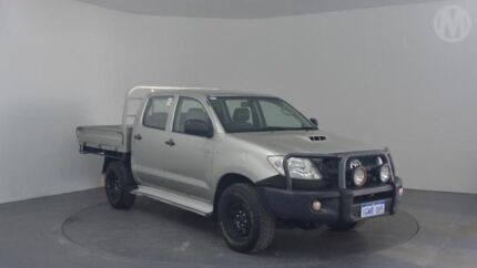 2008 Toyota Hilux KUN26R 08 Upgrade SR (4x4) Silver Leaf 5 Speed Manual Dual Cab Pick-up Perth Airport Belmont Area Preview