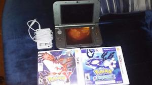 Nintendo 3ds xl grise + chargeur + 2 jeux