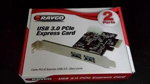 Carte PCI-E Express USB 3.0 boite ouvert (NEUF)