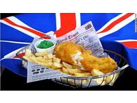 FISH & CHIPS STAFF REQUIRED IN A BRAND NEW RESTAURANT IN HENDON, NW9, LONDON.