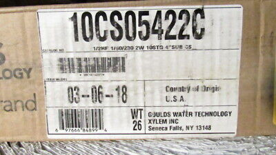 10cs05422c Goulds 5gpm 12 Hp Submersible Water Well Pump 230v 2 Wire Free Ship.