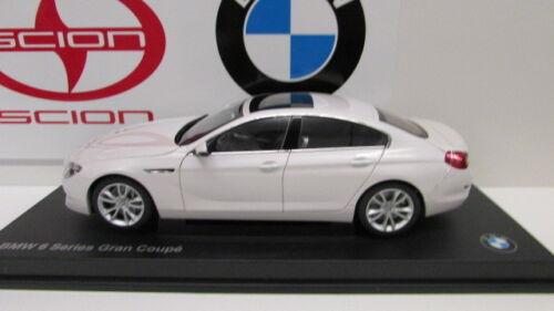 BMW Genuine OEM Miniature 650i 1:18 F06 Grand Coupe Mineral White