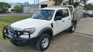 2009 Ford Ranger PK XL (4x4) White 5 Speed Manual Dual Cab Chassis Macquarie Hills Lake Macquarie Area Preview