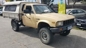 1983 Toyota Hilux (4x4) Yellow 4 Speed Manual 4x4 Dual Cab Pick-up Maidstone Maribyrnong Area Preview