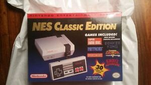 New & Sealed NES Classic Mini Edition with receipt