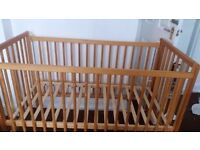 Baby cot with matters