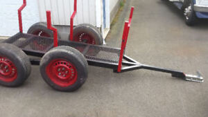 tandem trailer perfect for ATV to haul wood 6 feet long!