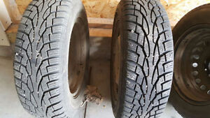 Nankang Winter Tires for sale $450 with rims -195/65R15 4 Bolt