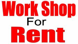 BRAND NEW WORKSHOPS FOR RENT!