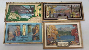 Collection of Antique Advertising Thermometers