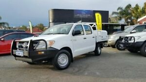 2007 Toyota Hilux KUN16R MY08 SR Turbo Diesel White 5 Speed Manual Dual Cab