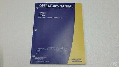 New Holland H7460 H7560 Discbine Mower Conditioner Operators Manual Dn206