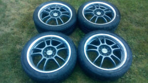 215/45/17'' Used Aftermarket Rims With Tires