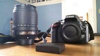 Nikon D5200 with 18-140mm lens