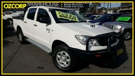 2011 Toyota Hilux KUN26R MY11 Upgrade SR (4x4) White 5 Speed Manual Dual Cab Pick-up Homebush Strathfield Area Preview