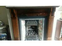 Fire surround and cast iron insert