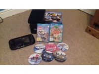 WII U CONSOLE 32GB WITH 8 GAMES