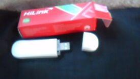 HAUWEI usb stick internet DONGLE IN BOX