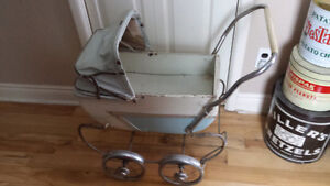 Vintage 1950's Pram Baby Buggy/Toddler Doll Carriage
