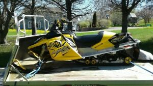 2006 SKIDOO 600 HO Renegade and Double Skidoo Trailer
