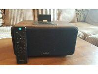 sandstrom spdbt bluetooth wireless speaking system with docking