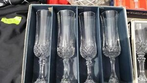 Real crystal glasses